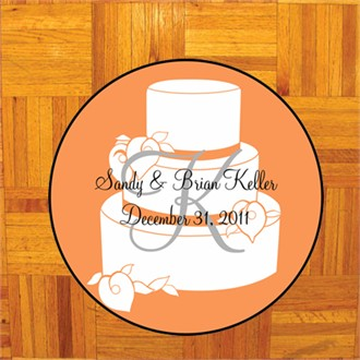 Custom Cake Design Dance Floor Decal - Orange Cake Design