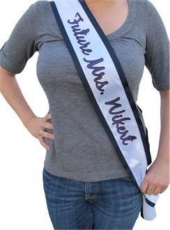 Custom Glitter Bridal Sash or Bachelorette Sash