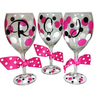 Custom Initial Wine Glass