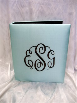 Custom Monogrammed Photo Album in Silk Dupioni
