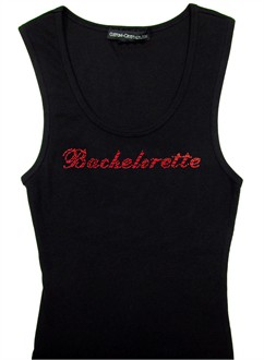 Custom Bachelorette Tank Top or T-Shirt with Double Row