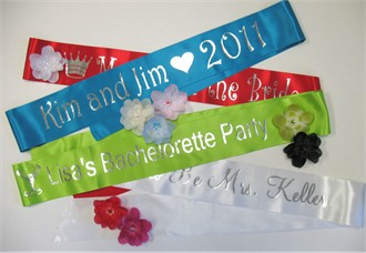 Custom Personalized Sash with Choice of Colors and Fonts!