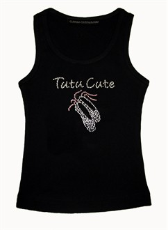 Custom Tutu Cute Girls' Rhinestone T-Shirt or Tank Top