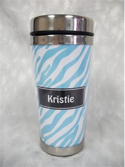 Custom Zebra Skin Chic Travel Mug