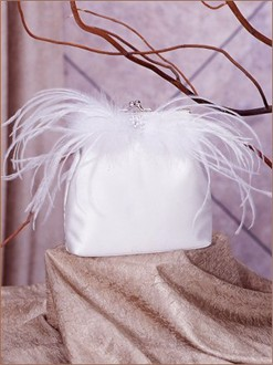 Dancing Feather Bridal Purse