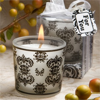 Damask Design Candle Favors-5440
