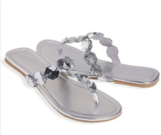 Diamonds are a Girl's Best Friend Flat Wedding Sandals