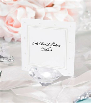 Set of 6 David Tutera Diamond Place Card Holders for Wedding Receptions
