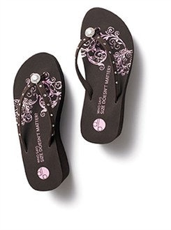 DB Flip Flops Girl Two Doors Down Platform Pave Diamond Platform Sandals in Brown