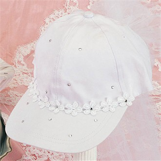 Decorated Bridal Cap with Crystal Embellishment