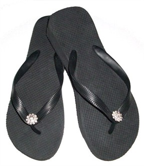 Crystal Flower Decorated Havaianas Flip Flops
