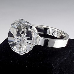 Diamond Ring Crystal Paperweight
