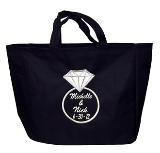 Diamond Ring Tote with Names and Date