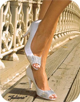 Juliana Crystal Satin Wedding Pumps