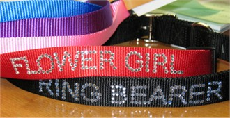 Personalized Dog Collar with Rhinestones