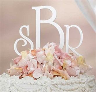 Elegant Wedding Cake Letter Monograms 5 Inches Tall