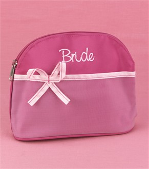 Embroidered Bride Cosmetic Bag