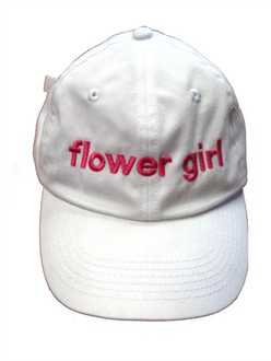 Embroidered Flower Girl Baseball Cap