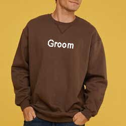 Embroidered Groom Sweatshirt - Best Man - Father of the Bride or Groom, Etc