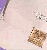 Embossed Initial Envelope Seals in  Champagne - Letter M only