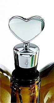 Silver Heart Bottle Stopper - Engraveable