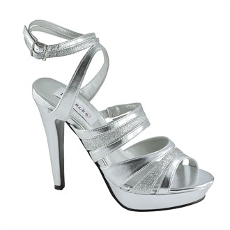 Anya Silver Evening Shoes by Dyeables