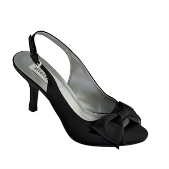 Faye Black Evening Shoes by Dyeables