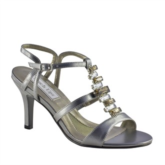 Isabella by Touch Ups Gunmetal Evening Shoes