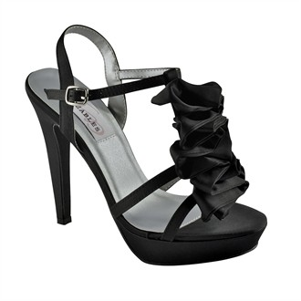 Ivy Black Prom Shoes by Dyeables