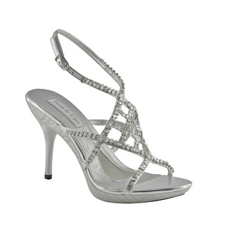 Trinity Silver Evening Shoes by Touch Ups