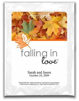 Falling In Love Fall Theme Cappucino or Hot Cocoa Favor