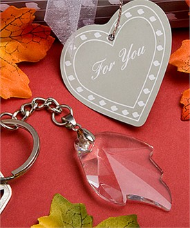 Choice Crystal Fall Leaf Keychain - Autumn Favors