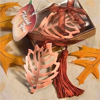 Fall Leaf Bookmark Favor-6476