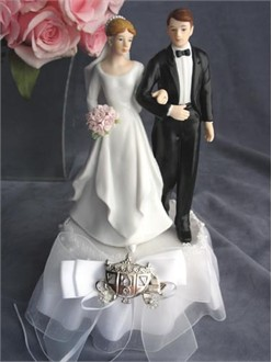 Fairy Tale Coach Bride and Groom Cake Topper
