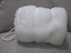 Faux Vanilla Mink Muff