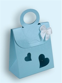 Stylish Blue Favor Boxes - Set of 24