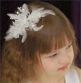 Special Occasion Feather Hair Comb 1714