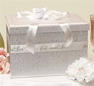 First Comes Love Wedding Card Box