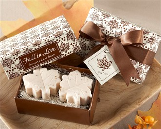 Fall in Love Scented Leaf-Shaped Soaps