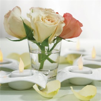 Fine White Porcelain Tea Light Holders