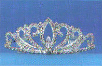 Flat Sided Oval Crystal Tiara