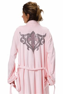 Tribal Fleur de Lis Robe Embellished with Crystals