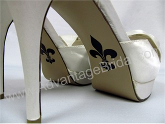 Fleur de Lis Shoe Sticker for Bridal Shoes