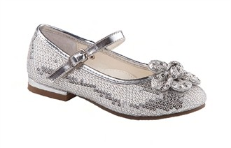 Petal by Special Occasions - Girls Silver Shoes