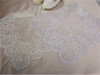 French Lace Bridal Hankie in White