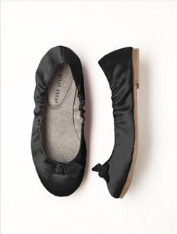 Girls Black Ballet Shoes by Dessy