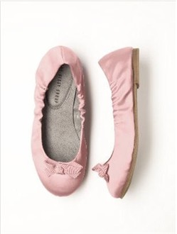 Girls Pink Ballet Shoes by Dessy