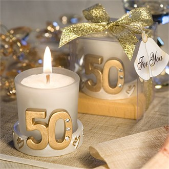 Golden Anniversary Candle Favors-3971