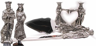 Guinevere Pewter Cake Server