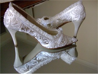 Handmade Lace Wedding Shoes - Victorian Wedding Shoes from House of Elliot